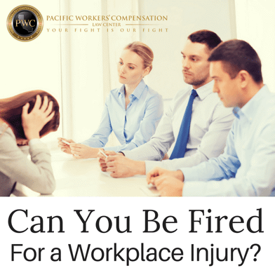 Can You Be Fired For Getting Injured at Work?