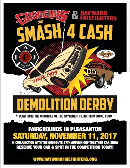 Hayward Firefighters Smash 4 Cash Demolition Derby